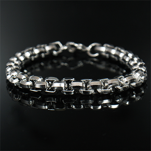Small Square Steel Chain Bracelet 172