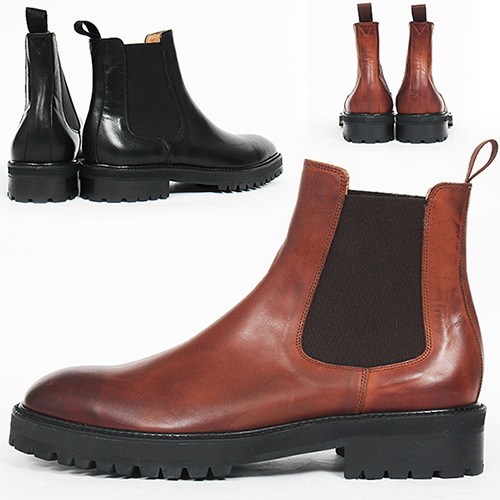 Handmade Leather High Top Chelsea Dealer Boots 5541