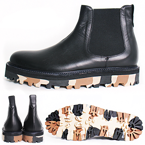 Handmade Camouflage Sole Chelsea Dealer Boots 5402