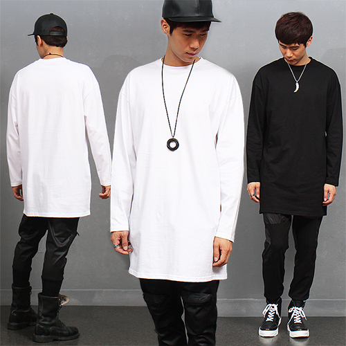 Over Long Loose Fit Long Sleeve T Shirt