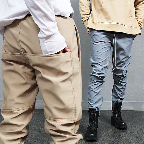 Zipped Hem Water Resistant Jersey Sweatpants