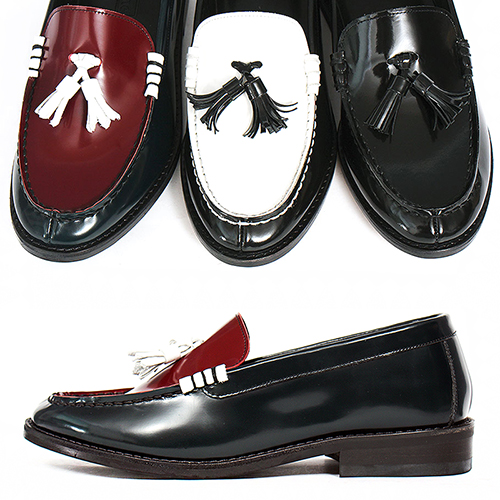 Handmade Leather Tassel Dainite Sole Loafers 5522