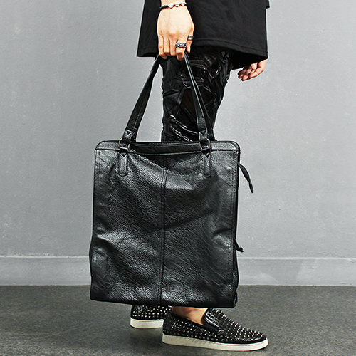 2 Way Shape Faux Leather Shoulder Tote Bag