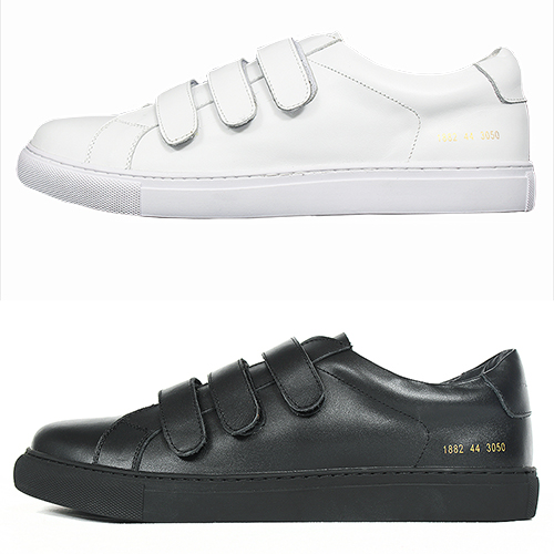 Triple Velcro Closure Leather Sneakers 1882