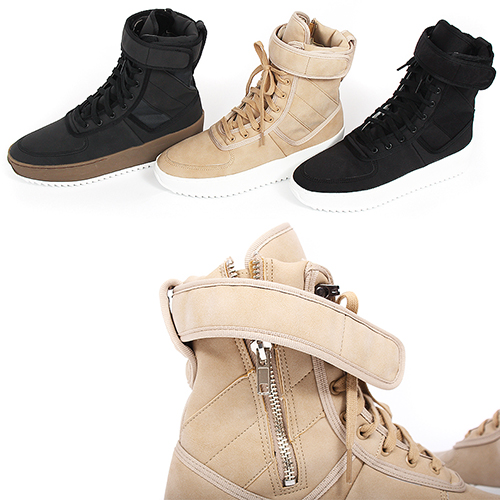 High Top Side Zipper Military Boot Sneakers 08