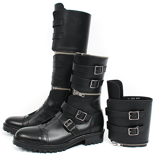 Handmade Detachable Zipper Buckle Long Leather Boots 2233
