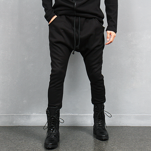 Avant garde Drop Crotch Fleecy Baggy Sweatpants