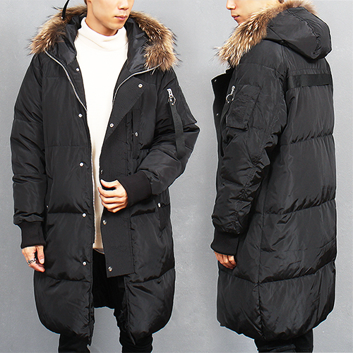 Fur Hood Duck Down Puffa Long Parka