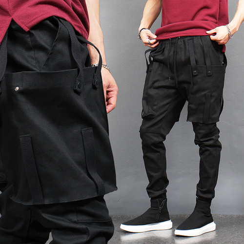 Big Cargo Pocket Semi Baggy Jogger Pants