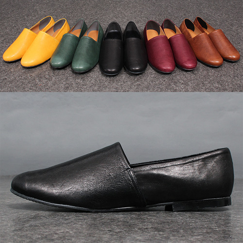 Handmade 5 Color Leather Loafers 8282