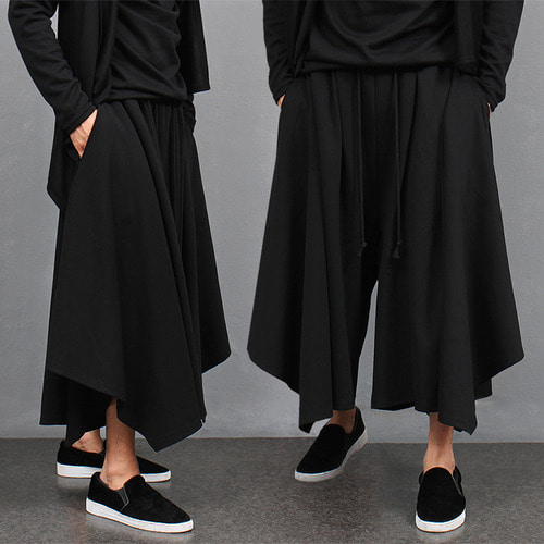Avant garde Over Wide Draped Sweatpants