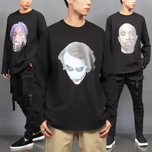 Face Graphic Printing Loose Fit Boxy Tee