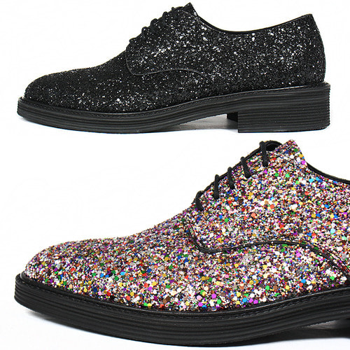 Handmade Multi Color Crystal Glitter Encrusted Oxfords 5548