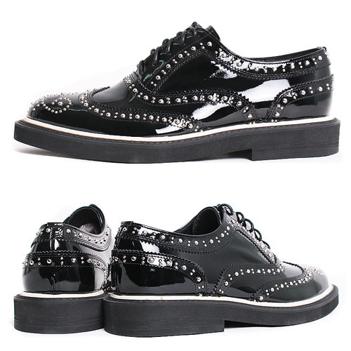 Avant garde Handmade Studded Wingtip Brogue Shoes 5273
