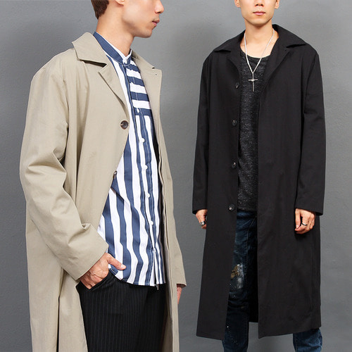 Loose Fit Over Long Trench Coat