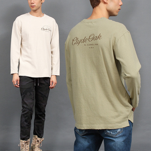 Vintage Faded Color Logo Printing Tee