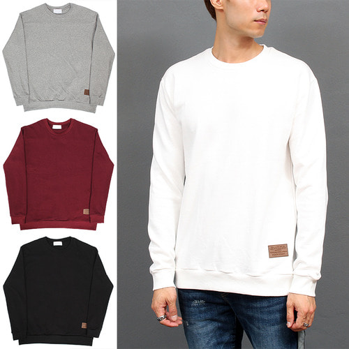 Long Sleeve Basic Cotton 4 Color Sweatshirt