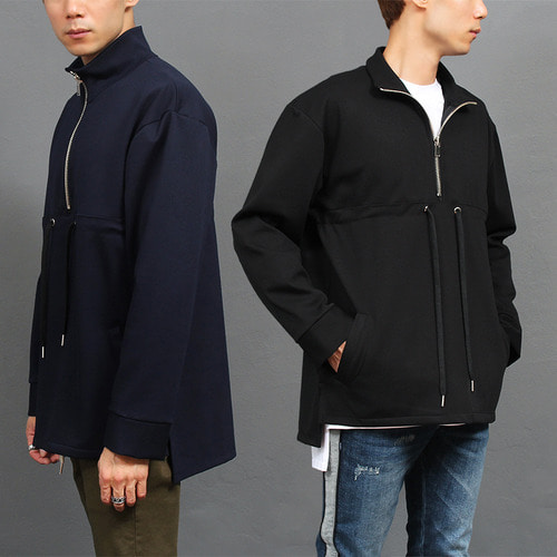 Unbalanced Long Back Hem Spilt Side Anorak Tee