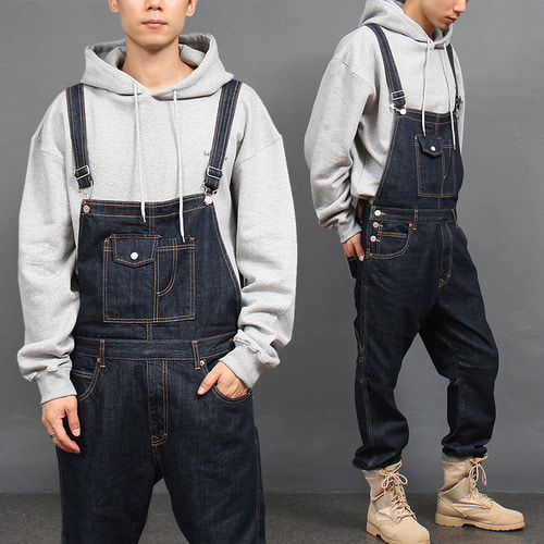 Blue Raw Denim Overalls 8810