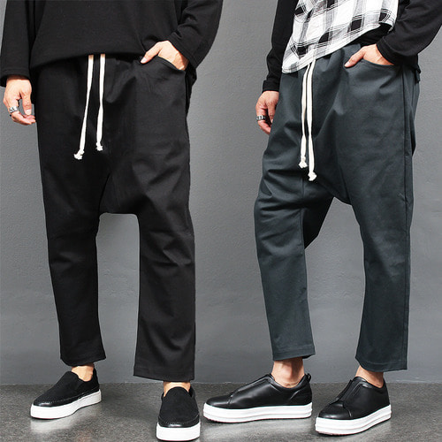 Drop Crotch Side Cargo Pocket Sweatpants