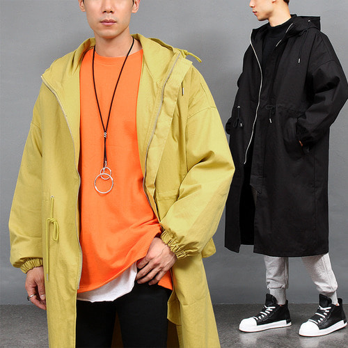 Loose Fit Removable Insulating Zip out Jacket Hood Long Jacket
