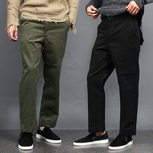 Loose Fit Wide Winter Chino Pants