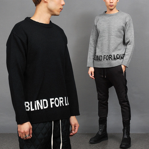 Standard Fit Blind For Love Knit Jumper