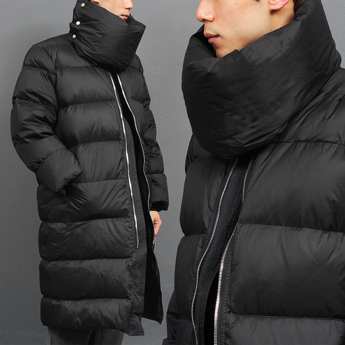 Muffler High Neck Duck Down Padded Long Parka