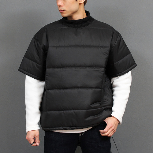 Cotton Insulation Padded Half Puffa Sweatshirt