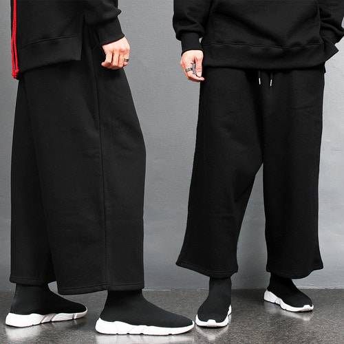 Loose Fit Over Wide Interior Fleece Baggy Sweatpants