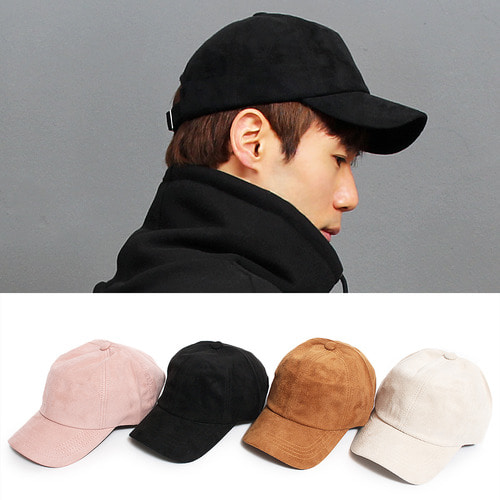 Synthetic Color Suede Basic Ball Cap