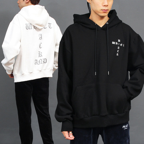 Loose Fit Reflection Cross Logo Boxy Hoodie