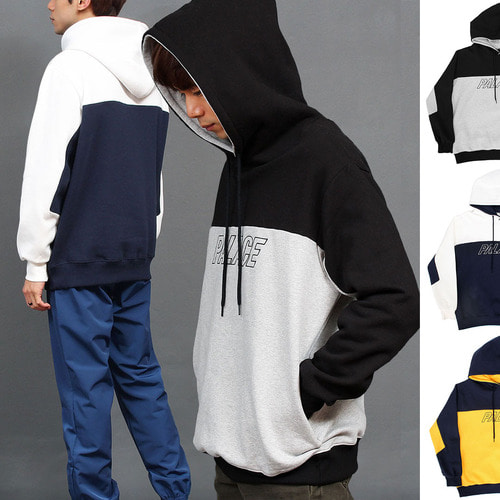 Loose Fit Logo Printing Contrast Color Hoodie