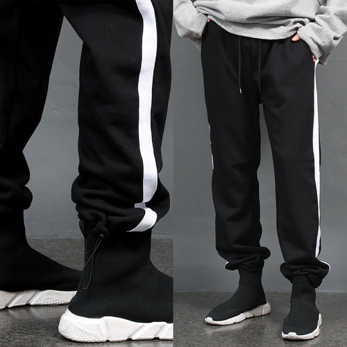 Side Line Elasticized Band Hem Track Pants 007