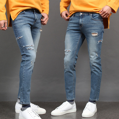 Blue Jeans,Distressed