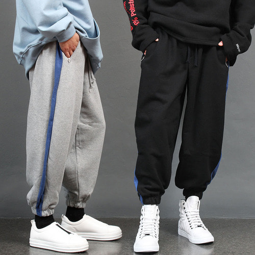Loose Fit Side Line Oversized Joggers 012
