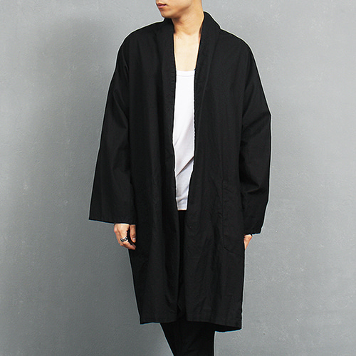 Over Loose Fit Draping Boxy Long Thin Coat