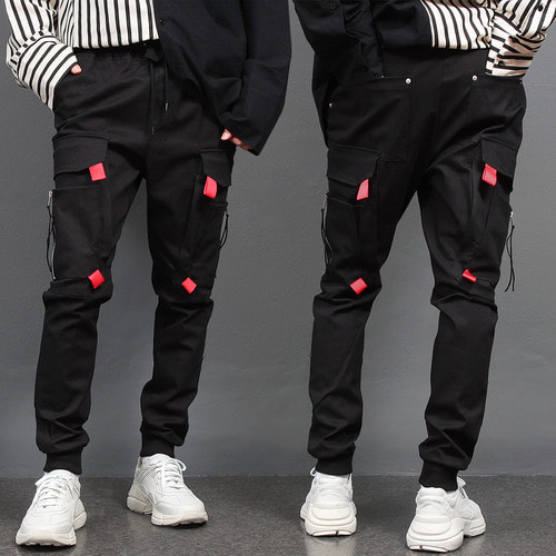 Double Layered Zipper Big Cargo Pocket Joggers 023