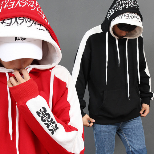 Street Fashion Double Layered Hooded Boxy Hoodie 019