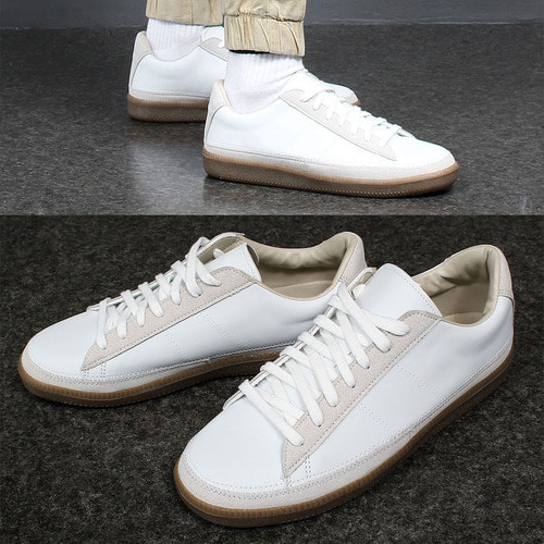 Synthetic Suede Leather Combi Stitch Sneakers 003