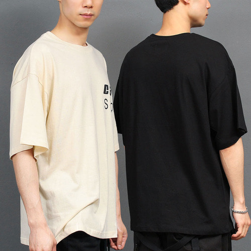 Loose Fit Graphic Logo Printing Boxy Tee 151