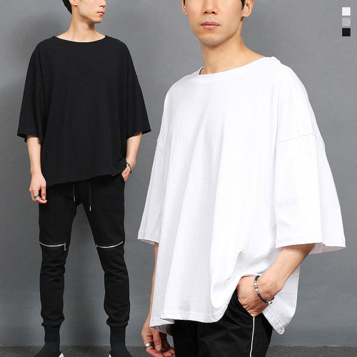 Street Fashion Split Side Big Over Boxy T Shirt 153