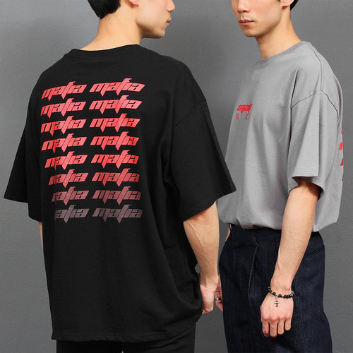 Graphic Logo Printing Boxy Short Sleeve Tee 166