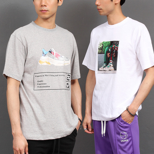 Graphic Logo Printing Short Sleeve Tee 172