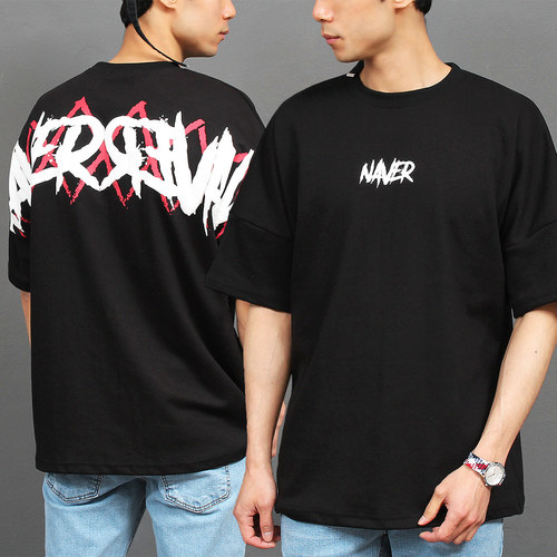 Street Graphic Printing Short Sleeve Tee 195