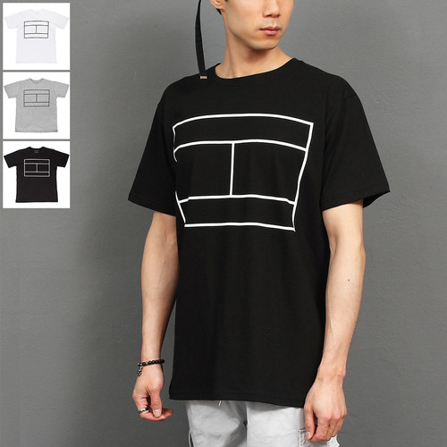 Street Fashion Graphic Printing Short Sleeve Tee 204