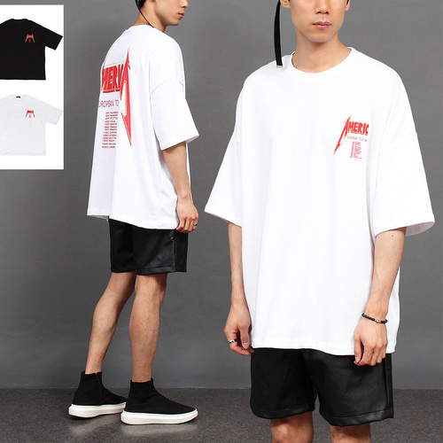 Loose Fit Graphic Printing Short Sleeve Tee 209