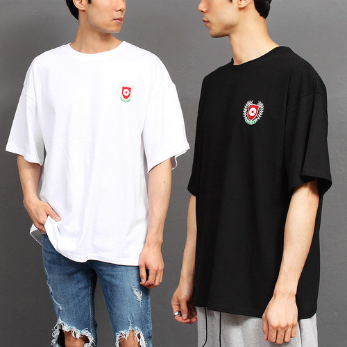 Stitched Logo Loose Fit Boxy Short Sleeve Tee 248