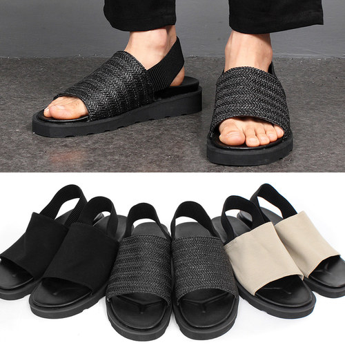 Open Toe Elasticized Band Sandals 004