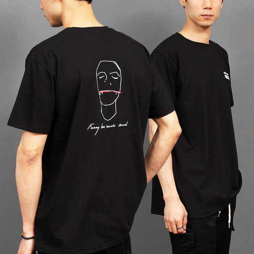 Picture Graphic Printing Short Sleeve Tee 207